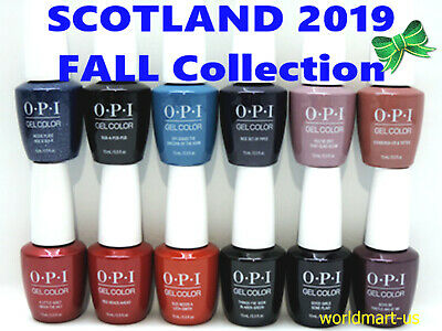 OPI GelColor Nail Polish Gel SCOTLAND Collection Fall 2019/ Choose Any Color