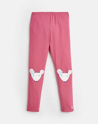 Joules Girls Wilde Jersey Character Leggings 1 6 Yr in PINK MOUSE