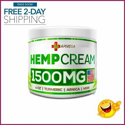 Hemp Pain Relief Cream Natural Hemp Extract For Lower Back, Neck, Joint, Knee,
