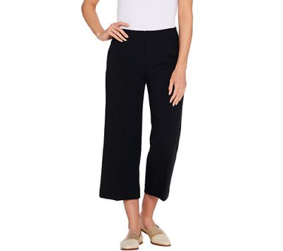 Kelly by Clinton Kelly Womens Regular Pull-On Ponte Culotte Pants XS Black A3047