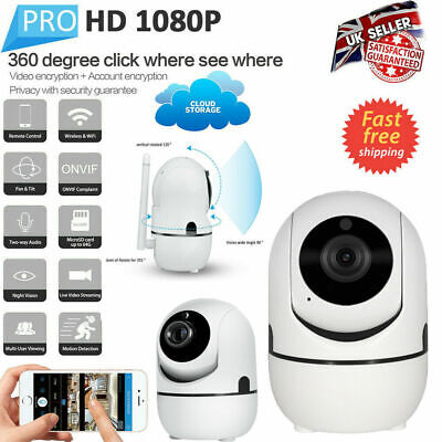 1080P HD Wireless Smart Camera IP WiFi Home Security IR Night Vision Monitor UK