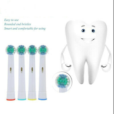 4pcs Electric Tooth Brush Replacement Heads SB-17A Fit Braun Oral-B Cross Action