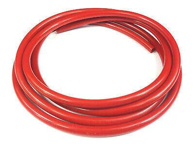 4mm ID Red Silicone Hose Tube Pipe - Water Food Boost Vacuum 1M UK Made