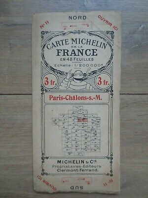 Carte Michelin de la France - Paris - Châlons-S-M. n°11