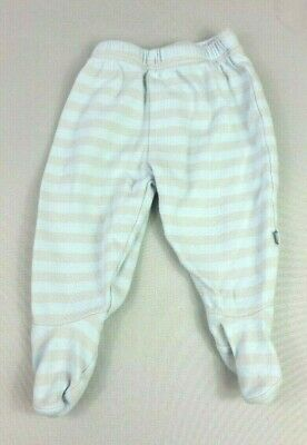 MOTHERCARE Baby Boys Footed TROUSERS 0-3 Months Blue Striped