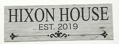 Your Family Est. Year & Name Custom House Sign Wall Plaque or Hanging Vintage