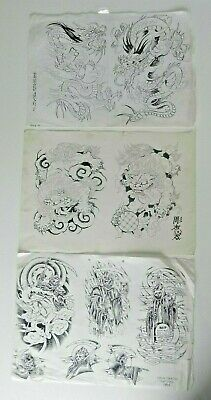 vintage tattoo flash sheets BOB EAGLE SMITH DAVE SMITH NOT MACHINE