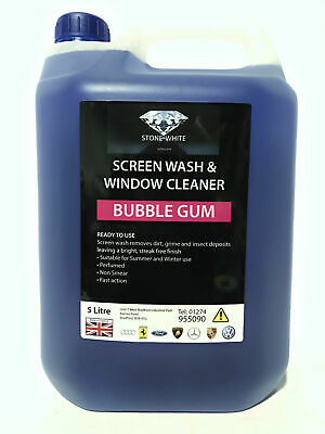 BUBBLEGUM 5 Litre Screenwash 5L Extreme Cold Winter 75C Protection Screen Wash N