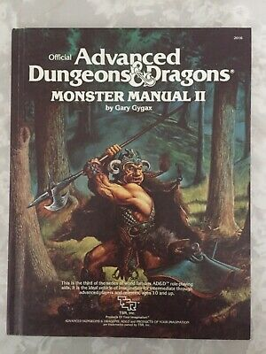 Advanced Dungeons & Dragons. Monster Manual II - Gary Gygax. TSR Games