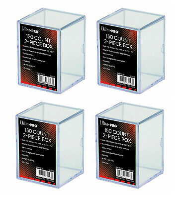 4 x Ultra Pro 150 Count 2 Piece Storage Box Standard Trading Cards 150ct