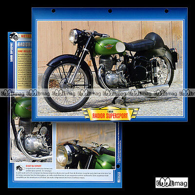 #141.11 Fiche Moto RADIOR SUPERSPORT 1954 Racing Motorcycle Card