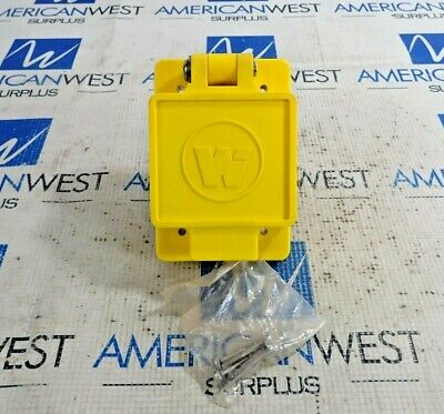 Daniel Woodhead 67W47 Watertite Flip Lid Turnex Female Receptacle 20A 125V *New*