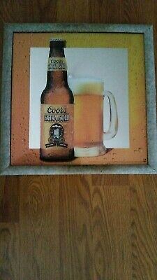 Coors Extra Gold >> Vintage Coors Extra Gold Beer Bar Sign Mirror Draft Mug