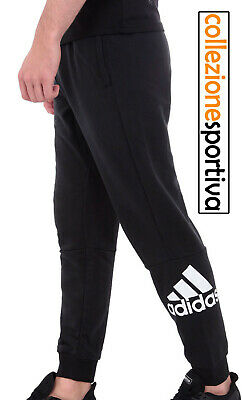 PANTALONE UOMO ADIDAS MUST HAVES FRENCH TERRY BADGE OF SPORT - DQ1445 col.nero