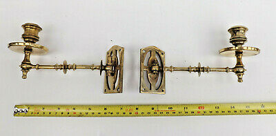 Late 19th Century Pair Of Brass Wall Sconces