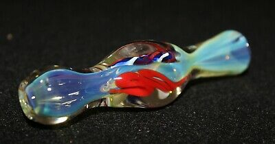 SUPERCHARGER Chameleon Glass One Hitter chillum Tobacco Smoking Pipe no weeds