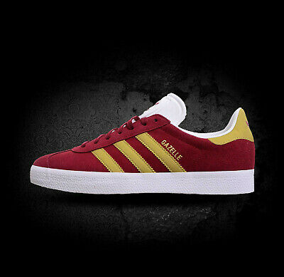 Adidas Originals Mens Boys Gazelle Trainers Shoes Burgundy/Gold CP9706 UK 6