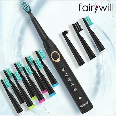 Rechargeable Electric Sonic Toothbrush 10x Bonus Brush Head Fairywill