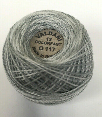 Summer Sky Variegated Color Valdani Pearl Cotton Thread Ball Size 12 M42