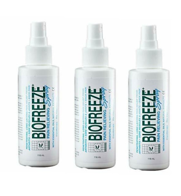 3 Pack- BRAND NEW Biofreeze Pain Relieving Spray 4 oz  EXP 2022 FREE SHIPPING