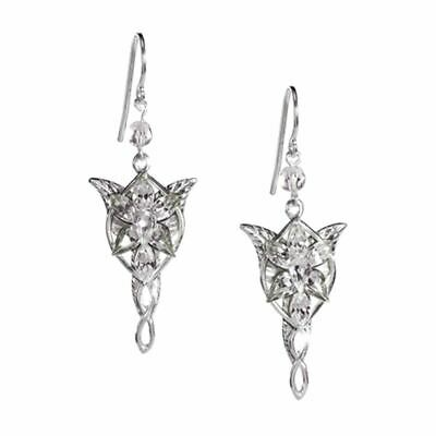 Lord Of The Rings Arwen Evenstar Argent Boucles Oreilles - Emballé Noble