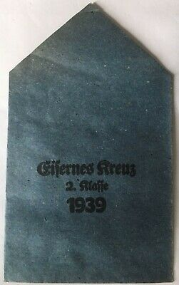 Medal German 1939 Iron Cross 2Nd Class Paper Packet Of Issue - Original