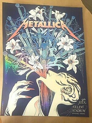 🔥 METALLICA VIP ONLY GOTHENBURG JULY 9th 2019 Rainbow foil POSTER PRINT AP #/40