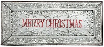 Special T Imports Framed Merry Christmas Wall Sign Metal 22.75 Inches