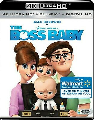 The Boss Baby 4K (Blu Ray Ultra HD, 2017) No Standard Blu Ray, Walmart Exclusive