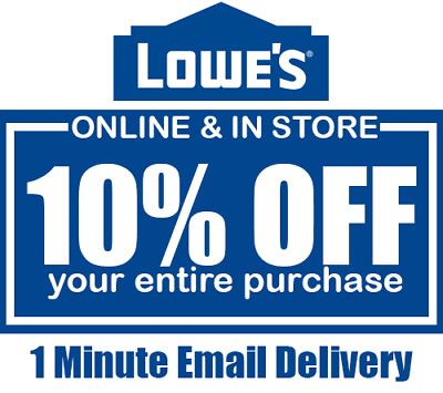 Lowes 10% OFF 1Coupon INSTANT DELIVERY INSTORE/ONLINE---------GUARANTEED--------