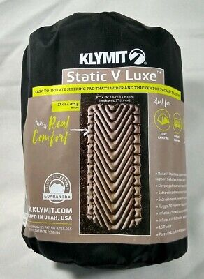 """Klymit Insulated Static V Luxe Sleeping Pad 30""""X76"""""""