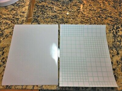 Glossy self-adhesive cold lamination vinyl film - 10 Pack (8.5in x 11in sheets)