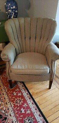 Vintage Wing Back Chair Green Great Condition