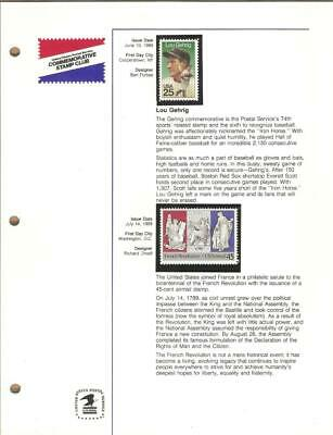 1989 Year Set - USPS COMMEMORATIVE STAMP CLUB  - 41 MNH Stamps - Please Read