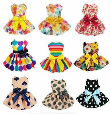 Various Cute Pet Dog Dress Skirt Puppy Princess Costume Apparel Summer Clothes