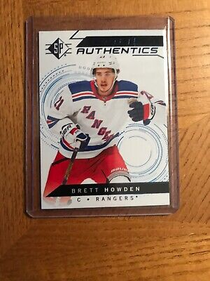 18-19 SP Hockey Rookie Authentics Brett Howden Blue Parallel