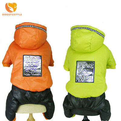 Windproof Warm Pet Dog Coat Hoodie Winter Thick Jacket Clothes Jumpsuit Snowsuit