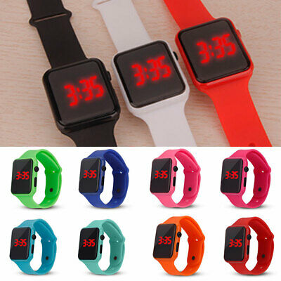 Sports LED Digital Watch Wrist Display Waterproof Electronic For Kids Boy Girls