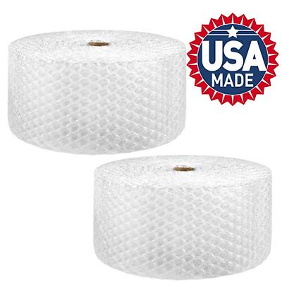"1/2""x12"" Large Bubble Perf 12"" 250ft Bubble Cushioning Wrap Padding 2Rolls=250ft"