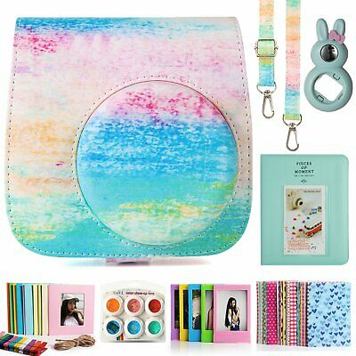 CAIUL Fujifilm Instax Mini 9 Film Camera Bundle with Case, Album(Rainbow Mist)