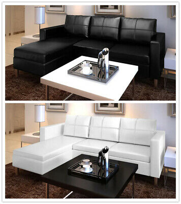 Outstanding Artificial Leather Sectional Sofa Configurable Chaise Lounge Short Links Chair Design For Home Short Linksinfo