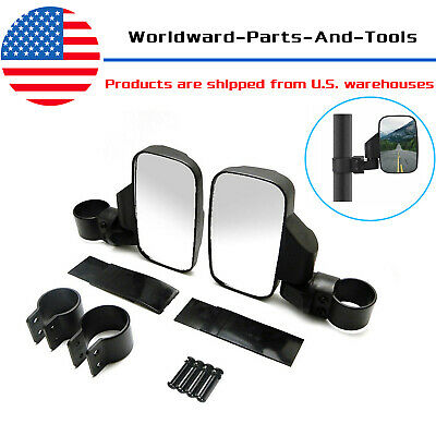 2Pcs Universal Car Rearview UTV Side View Mirror Set Break Away Convex Roll Cage