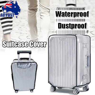 30Inch PVC Travel Transparent Luggage Protect Suitcase Bag Waterproof Cover Case