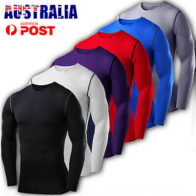 CFR Mens Compression Thermal Winter Base Layer Top Long Sleeve Sport Gym T-Shirt