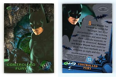 Controlled Fury #32 Batman Forever Metal 1995 Fleer Trading Card