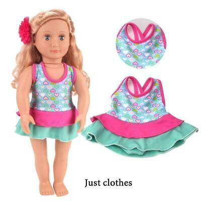 Clothes Swimwear Swimsuit For 18inch Girl Our Generation Doll Summer J2M3