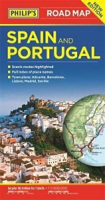 Philip's Spain and Portugal Road Map by Philip's Maps 9781849074391   Brand New