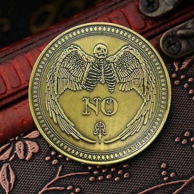 Commemorative Coin Floral NO YES Letter Ornaments Collection Arts V6E3 Gift A2F4