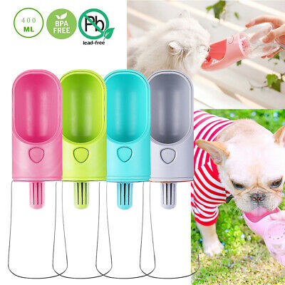 UK Portable Pet Dog Water Bottle For Dogs Travel Puppy Cat Drinking Bowl Outdoor