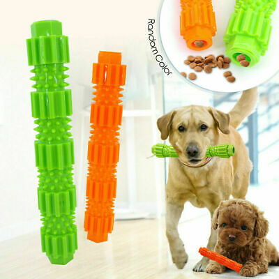 Dog Chew Toy For Aggressive Chewers Treat Dispensing Rubber Teeth Cleaning D6I2
